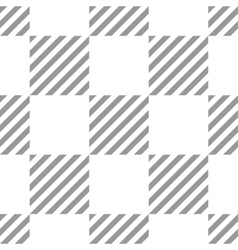Seamless geometric checkered pattern stripy vector
