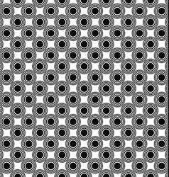Seamless monochrome circle pattern design vector