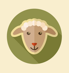 Sheep flat icon animal head vector
