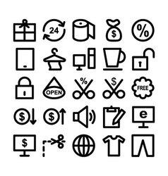 Shopping icon 3 vector