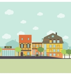 Small urban town life infographic elements Flat vector image vector image