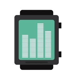 Smart watch music frecuency vector