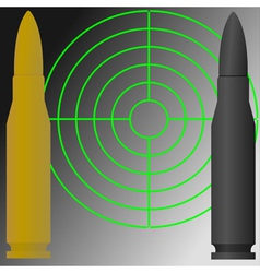 target and cartridges vector image vector image