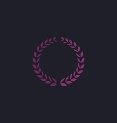 Triumph wreath computer symbol vector