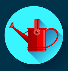 watering can icon irrigation symbol flat vector image