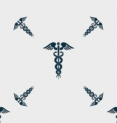 Medicine sign seamless pattern with geometric vector