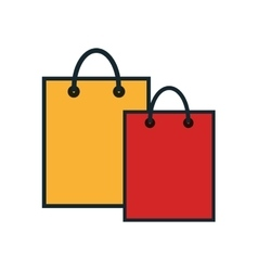 Bag shopping commerce icon vector
