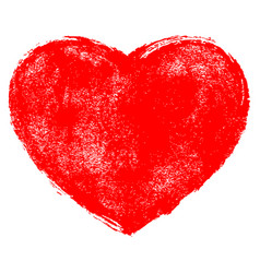 Red heart symbol with texture vector