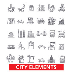City elements town urban district architecture vector