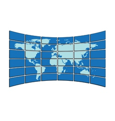 Map on screens vector
