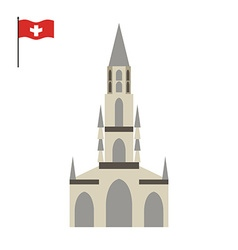 Berne cathedral landmark of switzerland vector