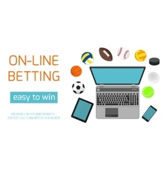 Concept for web banner sports betting statistics vector