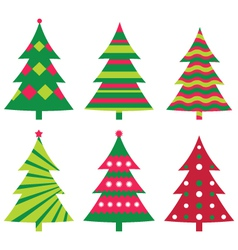 christmas trees vector image