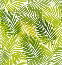 Palm leaf silhouettes seamless pattern tropical vector