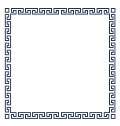 Square decorative Greek frame for design vector image