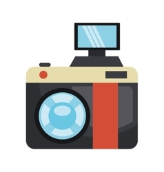 Vintage camera isolated flat icon vector