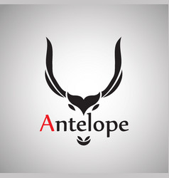 antelope design on background vector image vector image