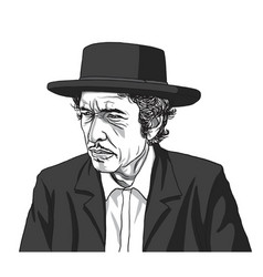 bob dylan drawing vector image
