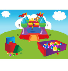 Bouncy Day vector image