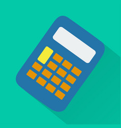 calculator modern design flat icon with long shado vector image vector image