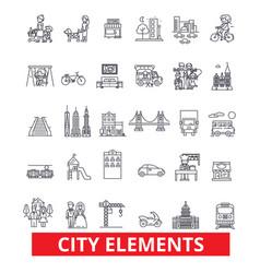 City elements town urban district architecture vector