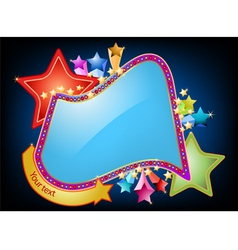 Colorful stars shaped label vector image