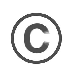 Copyright sign gray icon vector