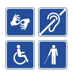 Disabled signs vector