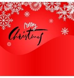 Elegant red christmas snowflakes card merry vector