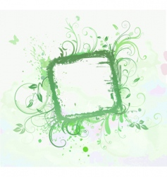 floral decorative frame vector image vector image