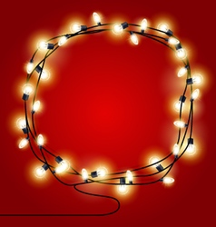 Frame of shining Christmas Lights garlands vector image vector image