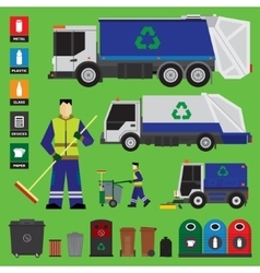 Garbage recycling vector image