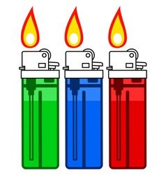 Gas lighter set vector image