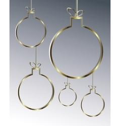 Golden christmas balls vector