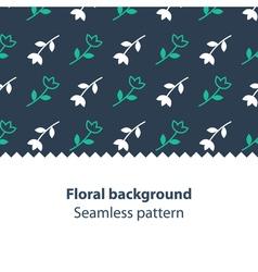 Green flowers fancy backdrop pattern vector image vector image