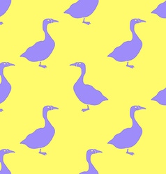 Hand Drawn Goose silhouette seamless pattern vector image vector image