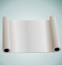 Illustration of blank paper roll for design vector