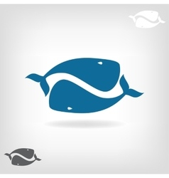 image of a big whale vector image