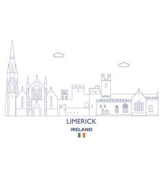 limerick city skyline vector image vector image