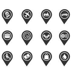 Map pointer symbols vector