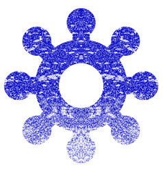 Mechanics gear textured icon vector