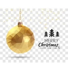 Merry Christmas Happy New Year Trendy triangular vector image