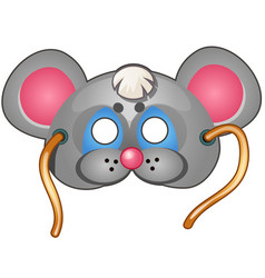 Mouse mask carnival and masquerade accessories vector