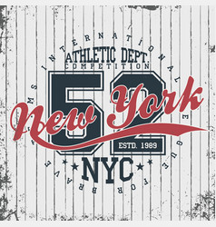 new york athletic sportswear emblem athletic vector image