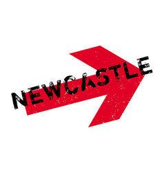 newcastle rubber stamp vector image