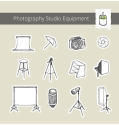 Photography studio equipment vector