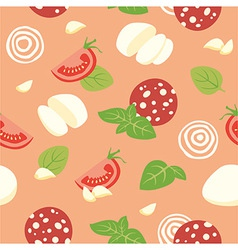 Pizza pepperoni ingredients vector