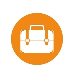 Portfolio suitcase travel business yellow circle vector