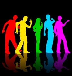 rainbow dance vector image vector image