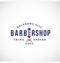 Retro barbershop abstract sign emblem or vector